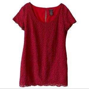 ARITZIA Talula Red Lace Mini Dress Large